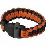 13401700-Bransoletka survivalowa Elliott-czarny, pomarańczowy