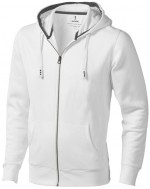 38211010-Rozpinana bluza z kapturem Arora-Biały   xs