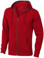 38211250-Rozpinana bluza z kapturem Arora-Czerwony xs