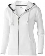 38212011-Rozpinana bluza damska z kapturem Arora-Biały   s