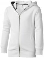 38213011-Rozpinana bluza dziecięca z kapturem Arora-Biały   104