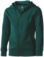 38213605-Rozpinana bluza dziecięca z kapturem Arora-Forest green 152