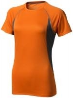 39016331-T-shirt damski Quebec-pomarańczowy  ,Antracyt s