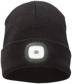 38661990-Mighty LED knit beanie, Black-czarny