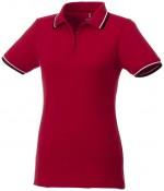 38103254-Damskie polo Fairfield z krótkim rękawem z lamówką-Czerwony,granatowy , Biały   xl