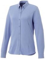 38177402-Damska koszula z długim rękawem o splocie pique Bigelow-jasny niebieski  m