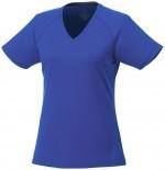 39026444-Damski t-shirt Amery z krótkim rękawem z dzianiny Cool Fit odprowadzającej wilgoć-niebieski  xl