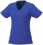 39026445-Damski t-shirt Amery z krótkim rękawem z dzianiny Cool Fit odprowadzającej wilgoć-niebieski  xxl