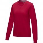 37513255-Damska organiczna bluza Jasper wykonana z GRS z recyclingu i posiadająca certyfikat GOTS-Czerwony xxl